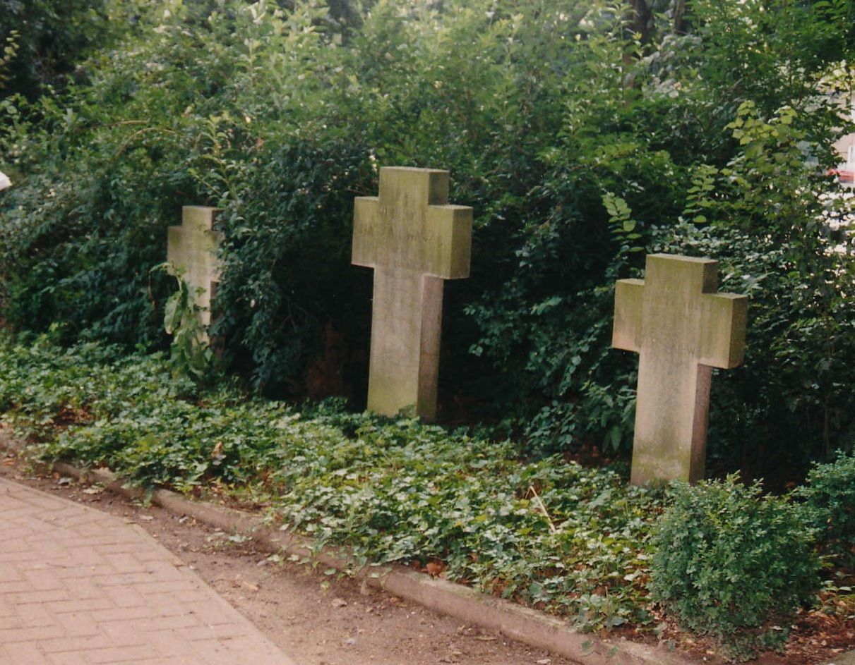 Three crosses at the polish burial ground in Quakenbrück