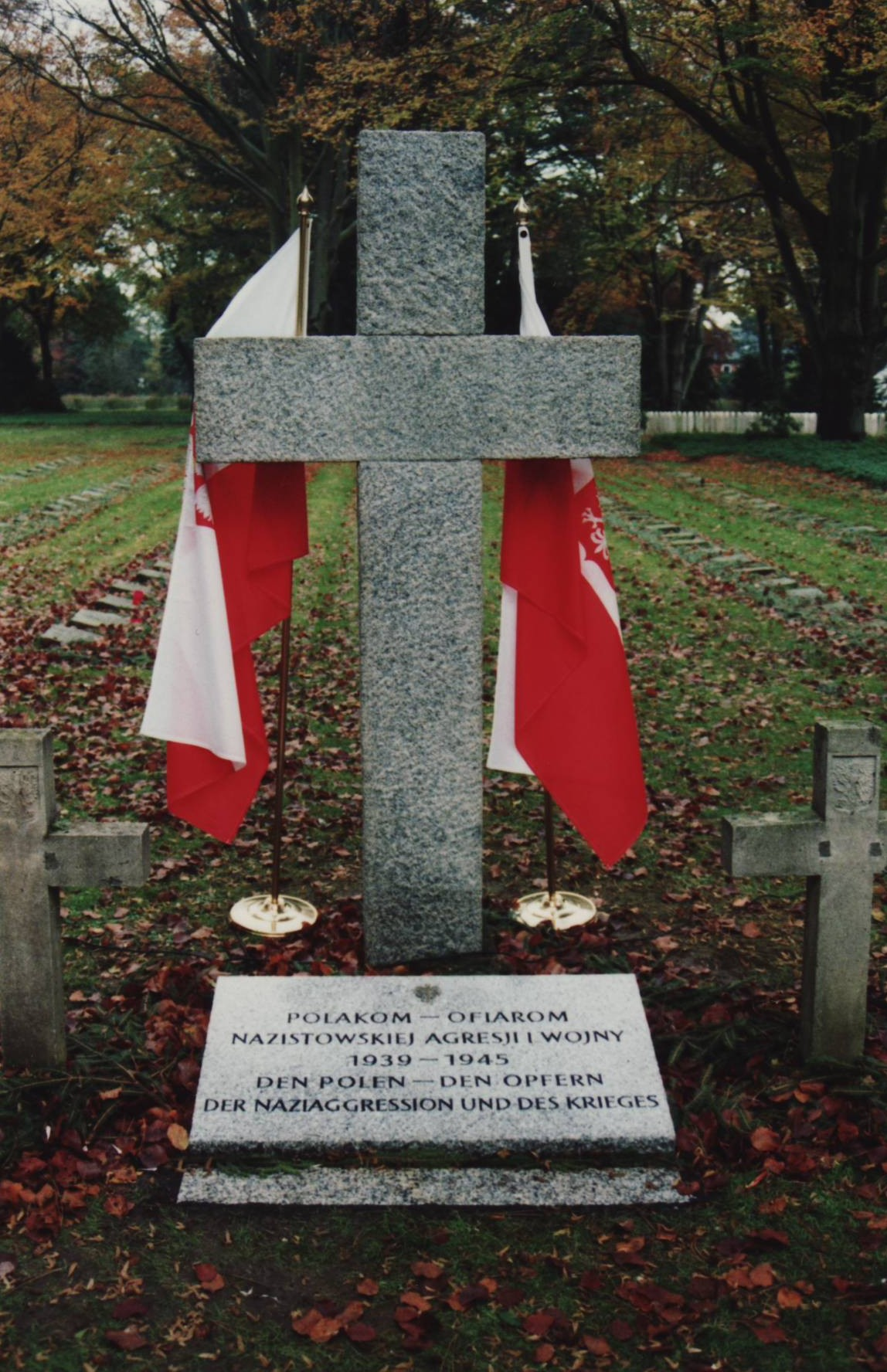 The 1995 ceremonially inaugurated cross at the polish burial ground