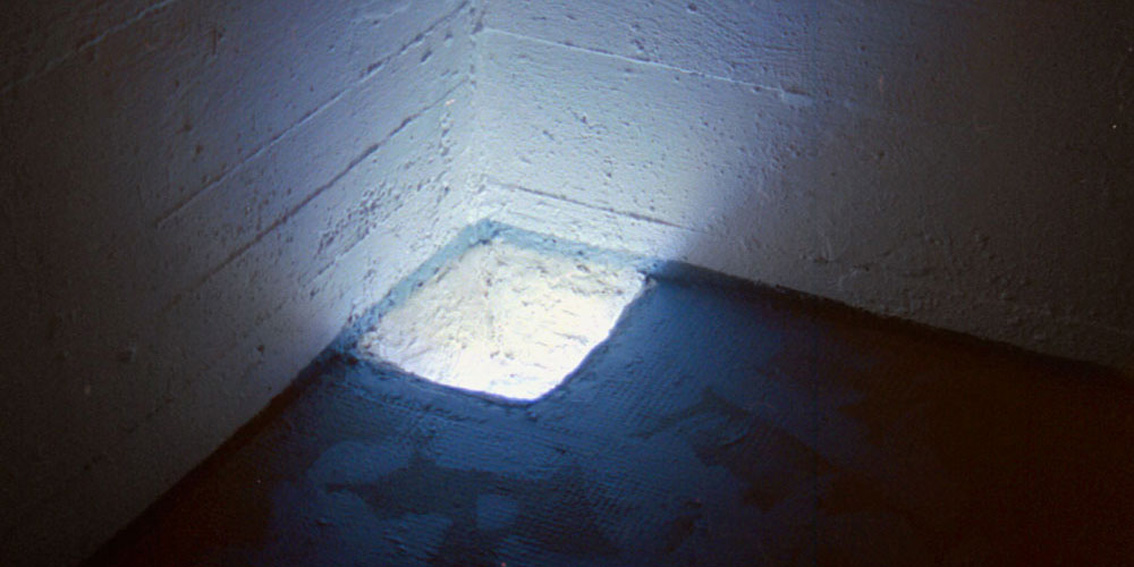 EMERGING, 1999. Video installation in the floor.