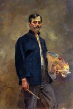 Wojciech Kossak (1856-1942): Selbstporträt mit Palette, 1893. Öl auf Leinwand, 151 x 105 cm
