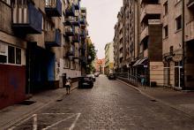 "Die Straße ""Ulica Biskupia"" in Breslau (heutiger Zustand)"