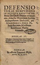 Verteidigung gegen Menno Simons, 1545