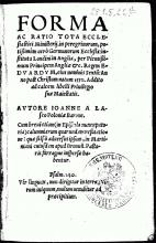 Kirchenordnung für London, 1555