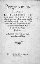 Reinigungsschrift, 1556