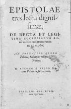 Drei Briefe, 1556
