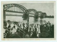 Postkarte vom Kongress der Polen in Westfalen und Rheinland in Bochum 1935 mit Inschrift auf der Rückseite.