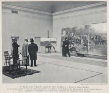 Kaiser Wilhelm II visits the workshop of the painter Adalbert von Kossak.