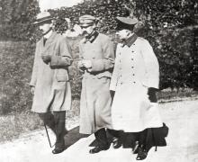 Józef Piłsudski and Sosnkowski during their internment in the Magdeburg ´fortress, 1918