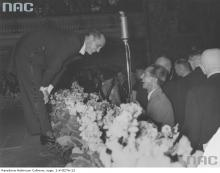 Jan Kiepura is congratulated by the Reich Minister for Propaganda, Joseph Goebbels, after his successful concert on 25th February 1935 to mark the opening of the German/Polish Institute at the Lessing College in Berlin.