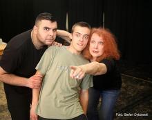 Janina Szarek podczas pracy ze studentami Szkoły Aktorskiej TRANSform