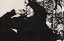 Janina Szarek w akademiku PWST w Krakowie, lata 70-te