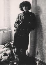 Janina Szarek w mieszkaniu w Berlinie Neukölln, lata 80-te