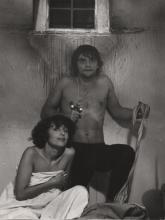 """Janina Szarek w sztuce """"Wariat i zakonnica"""" w reż. Krystiana Lupy, Teatr Telewizji, 1978 r."""