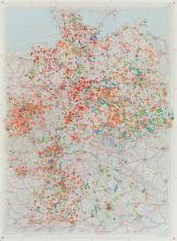 Deutschlandkarte mit der Topographie des Todes