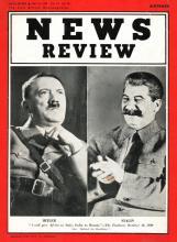 Strona tytułowa magazynu News Review, 19/1939