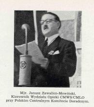 Mjr dr inż. Bolesław Zawalicz-Mowiński podczas przemówienia na obchodach święta żołnierza w Hamburgu