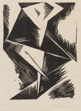 Stanisław Kubicki, Tancerka, linoryt, 1918