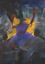 Stanisław Kubicki, Mojżesz przed krzewem gorejącym / Moses vor dem brennenden Dornbusch, olej na płótnie, 1933/34