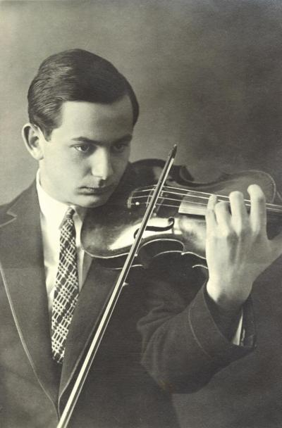 Szymon Goldberg, um 1924 in Berlin