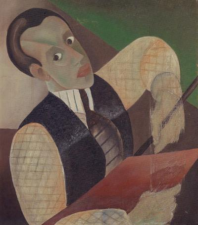 Self-portrait, ca. 1925. Oil on canvas, 55 x 37.5 cm