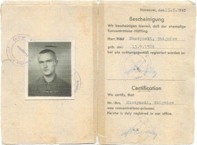 Zbigniew Muszyński: Certification former concentration camp inmates