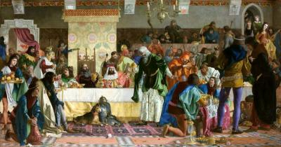 The Banquet near Wierzynek/Uczta u Wierzynka, 1876, oil on canvas, 157 x 315 cm