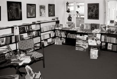 The inside of the Polish bookshop in the 1980s.