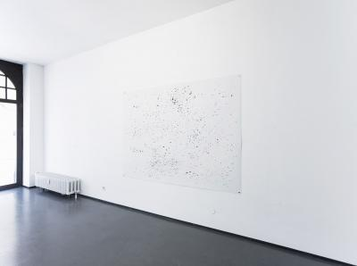 Agata Madejska, The Economist I, 2014, giclée print, 150 × 210 cm. Installation view, Form Norm Folly, Krefelder Kunstverein, 2014.