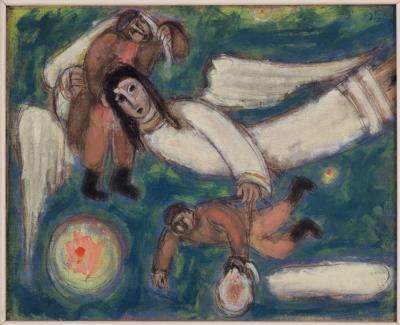 In our world there is no room for Jews, 1947, oil on canvas
