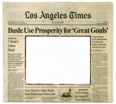 Empty Images, 2000/2006. Los Angeles Times, 4th August 2000