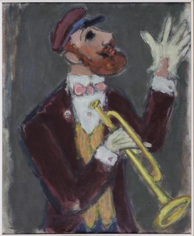 The Trumpeter, 1946, oil on canvas