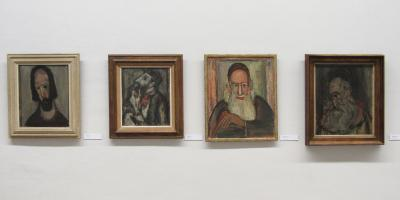 Apostle, 1946; The Thinker, ca. 1945; Man with Stick, 1946; The Artist's Father, 1945