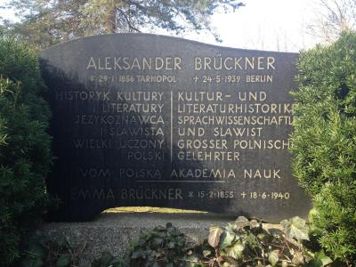 Brückner's grave, today's view (2014).