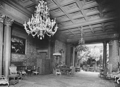 """Radziwill Palais"", view of the ""Red Salon"" and the winter garden of the building, ca. 1927."