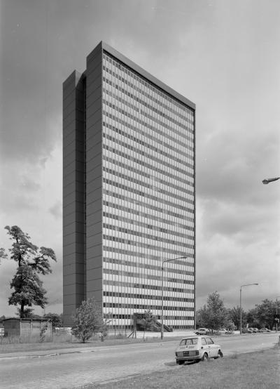 High-rise building in Wroclaw, 1983.