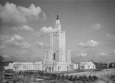 Palace of Culture and Science in Warsaw, 1955.