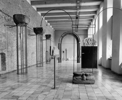 Exhibition room in the Museum of Architecture in Wrocław, 1969.