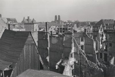 Destroyed area in the old city centre of Wrocław, undated (after 1945).