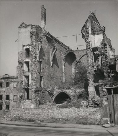 Ruins of the Church of St. Catherine in Wrocław, 1958