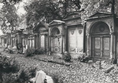 Gravestones in the Old Jewish Cemetery in Wrocław, 1986.