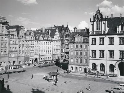 North side of the Wrocław Market Square, undated (after 1945).