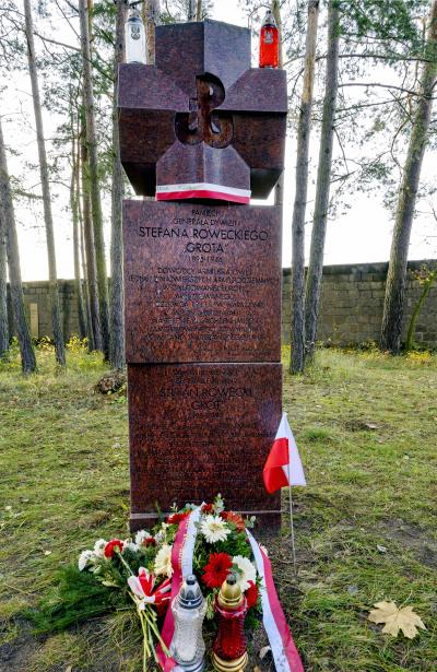 "Marian Stefanowski, Memorial to the memory of the Polish General Stefan Rowecki ""GROT"", murdered 1944, 14 November 2019"