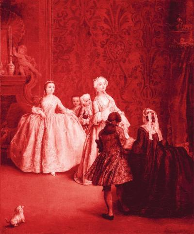 Presentation after Pietro Longhi, 2005. Inkjet print on paper, 66 x 55 cm.