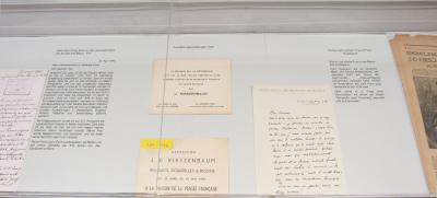 Letters and invitations to exhibitions in Paris and Brussels, 1945/46