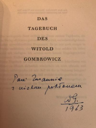 Widmung von Witold Gombrowicz