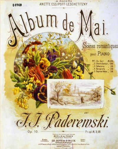 Image result for Paderewski Album de Mai: