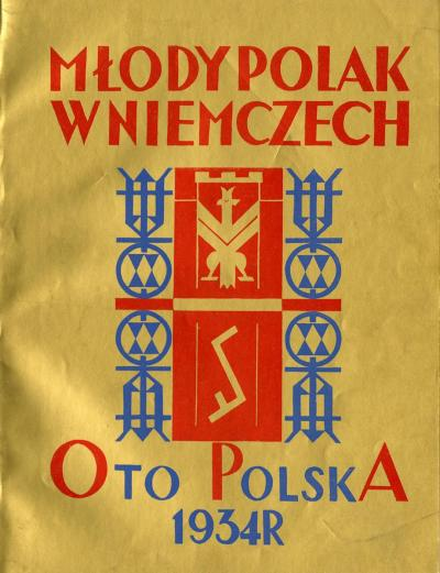 The Cover of Młody Polak w Niemczech 1934 with Rodło emblem of Janina Kłopocka.
