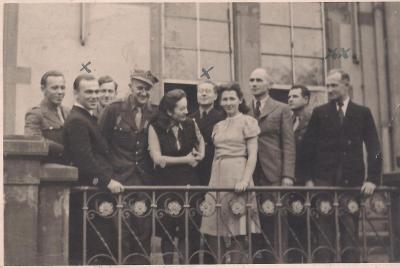 The teachers at the school for Polish DPs in Lippstadt; Kazimierz Odrobny, far right, ca 1947/1948.