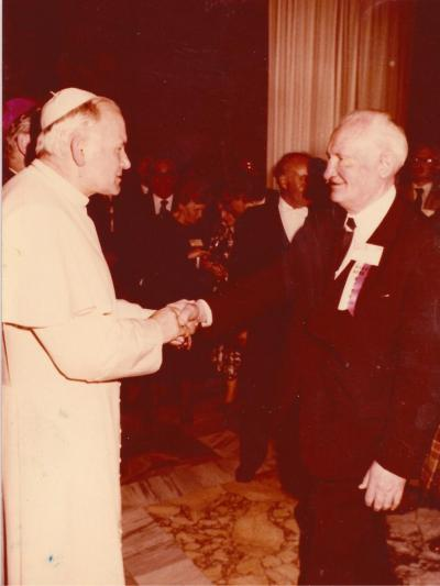 Kazimierz Odrobny at a private audience with Pope John Paul II, Rome, 11.11.1979.