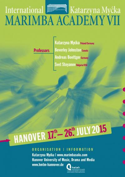 The poster for the 7th International Katarzyna Myćka Marimba Academy in Hanover 2015.